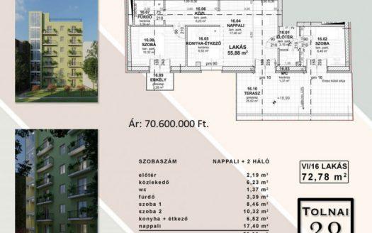 Eladó Lakás - Budapest VIII. kerület Józsefváros - Csarnoknegyed - Nagykörúton kívül Tolnai Lajos utca