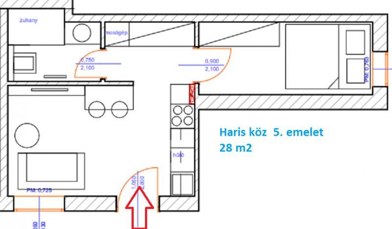 Eladó Lakás - Budapest V. kerület Belváros Haris köz